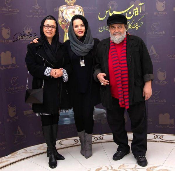 خانواده شریفی نیا در آیین سپاس تهیه کنندگان +عکس