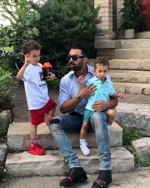 عکس جدید همسر و فرزندان روناک یونسی