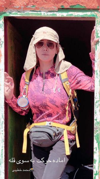 تیپ کوهنوردی خانم بازیگر + عکس