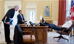 رئیس جمهوری که پاهایش اغلب روی میز است+تصاویر