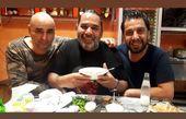 داریوش سلیمی و دوستانش در یک ساندویچی + عکس