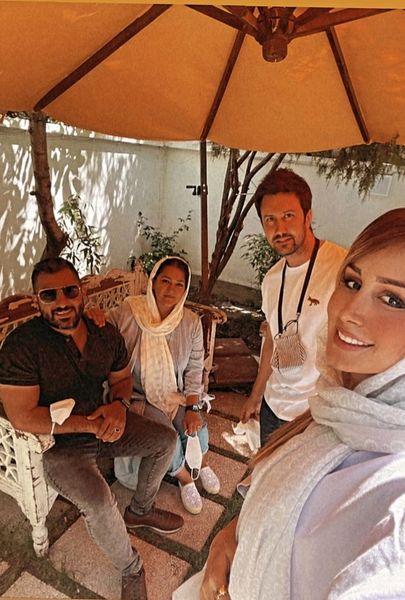 دورهمی شاهرخ استخری و همسرش با دوستانشان + عکس