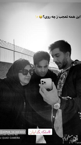 تعجب بازیگران ملکه گدایان در پشت صحنه + عکس