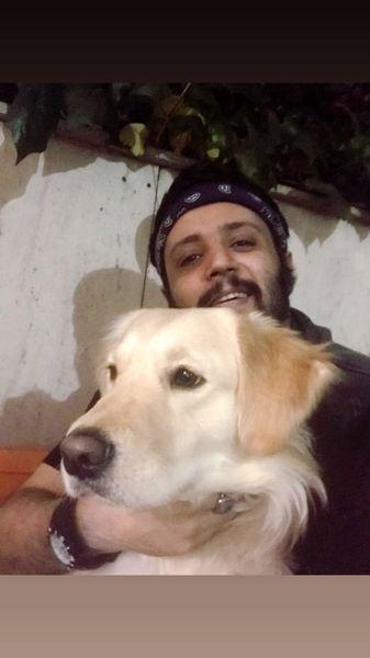 مهران رنجبر و سگش + عکس