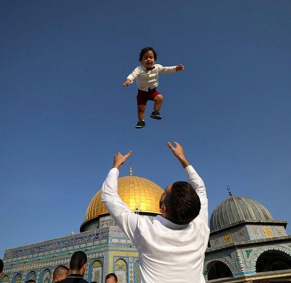 تصویری دیدنی از شادی فلسطینیان در آستانه عید قربان