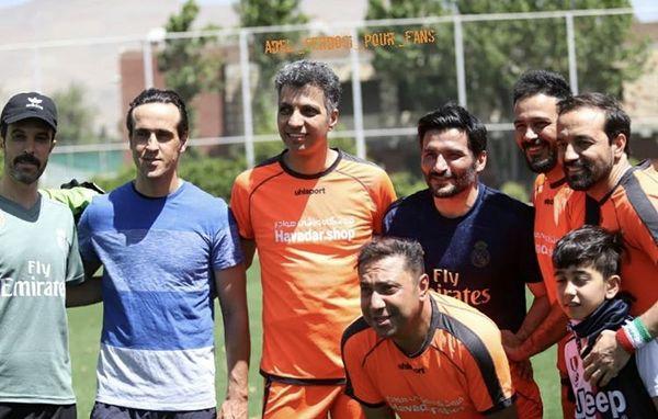 عادل فردوسی پور در زمین فوتبال + عکس