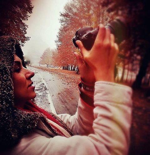 عکاسی حرفه ای خانم بازیگر در پاییز