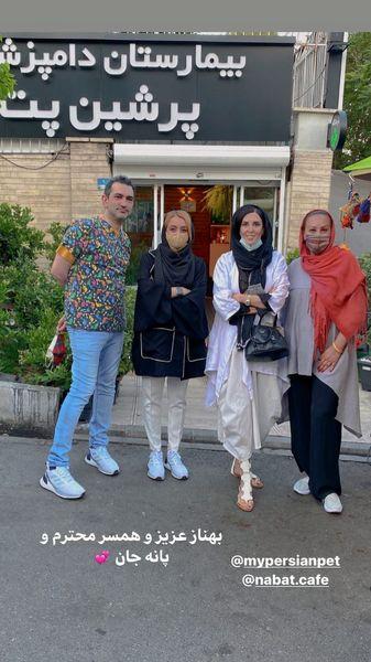 خانم بازیگر و دوستانش در یک بیمارستان دامپزشکی + عکس