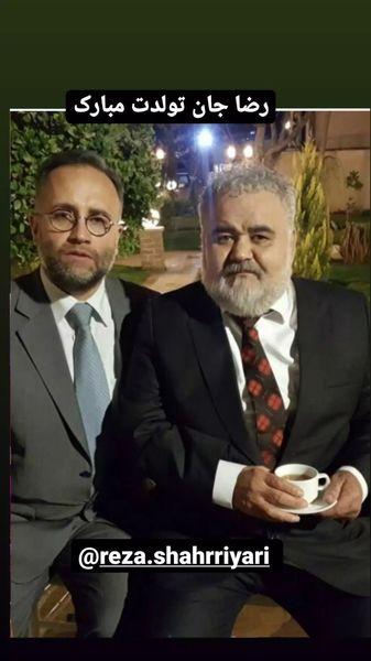 اکبر عبدی و دوستش در یک عروسی + عکس