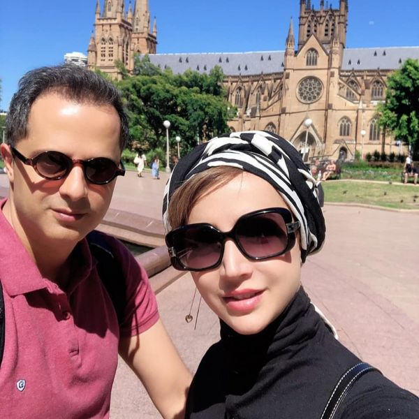 تیپ  شبنم قلی خانی و همسرش در استرالیا