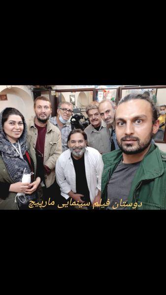 حمید لولایی در پشت صحنه کار جدیدش + عکس