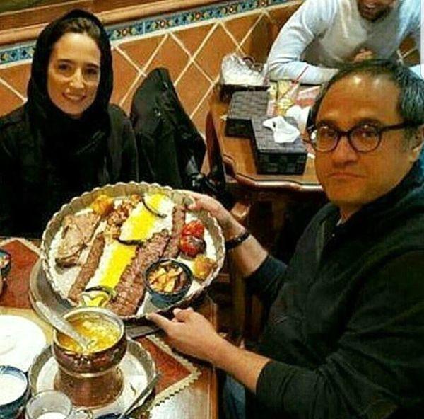 رستوران گردی رامبد جوان و همسرش+عکس