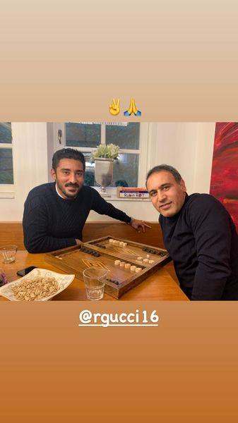 دیدار دو فوتبالیست مشهور در خارج از کشور + عکس