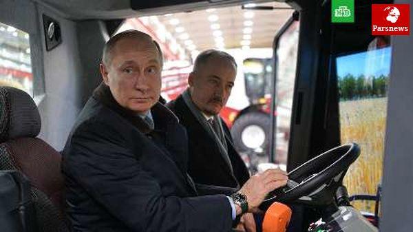 پوتین اگر انتخاب نشوم راننده کمباین می شوم