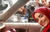 سپیده خداوردی در ماشین قدیمی اش+عکس