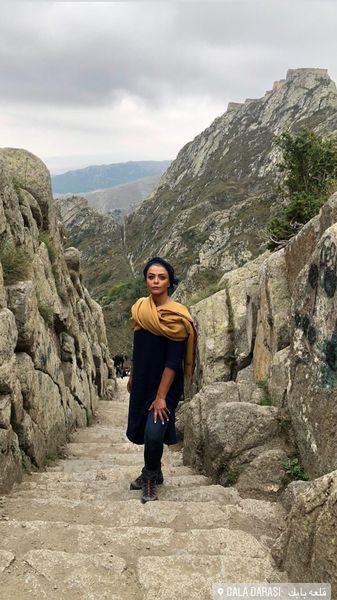کوهنوردی شبنم فرشادجو + عکس