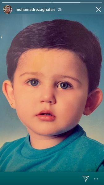 کودکی محمدرضا غفاری + عکس