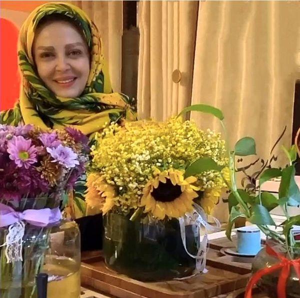 گلهای زیبای خانه بهاره رهنما + عکس