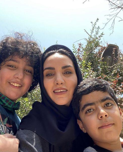 مرجان شیرمحمدی وپسرانش + عکس