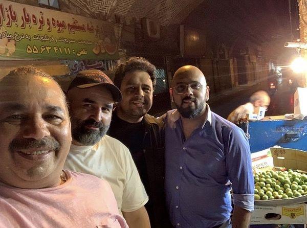 خرید شبانه علی مشهدی و دوستانش + عکس