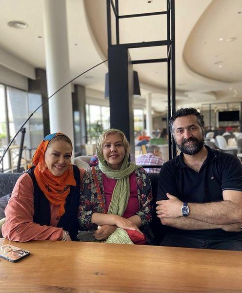 افسانه چهره آزاد با بهاره رهنما و همسرش در سفر + عکس