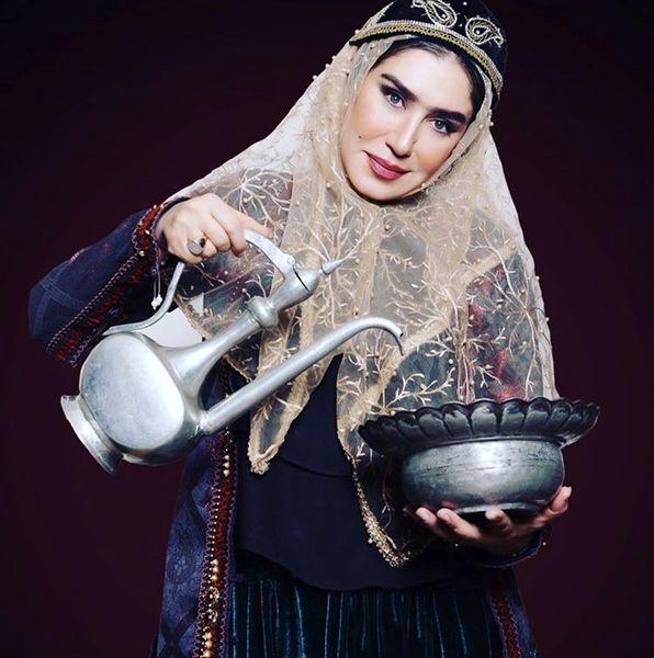 استایل زمان قاجاری خانم بازیگر + عکس