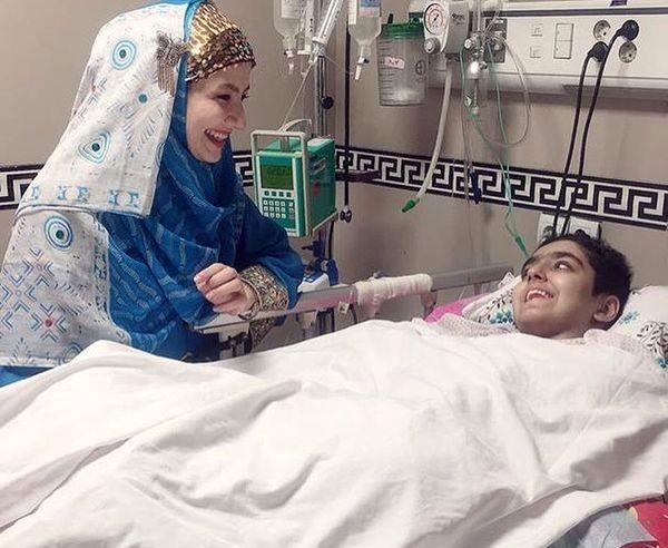خاله شادونه در بیمارستان+عکس