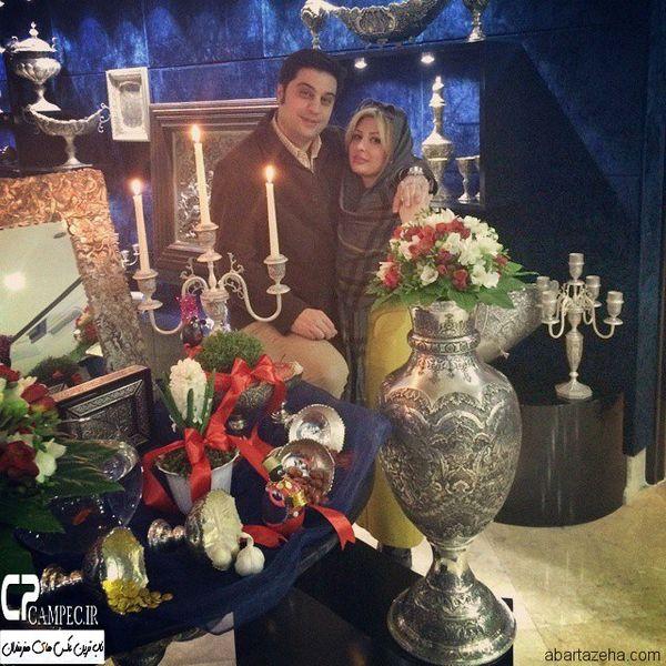 عکس نیوشا ضیغمی و همسرش در میان نقره ها