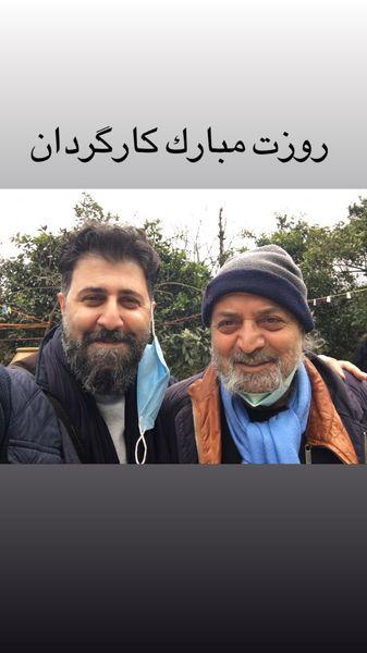 هومن حاجی عبداللهی در کنار کارگردان مشهور + عکس