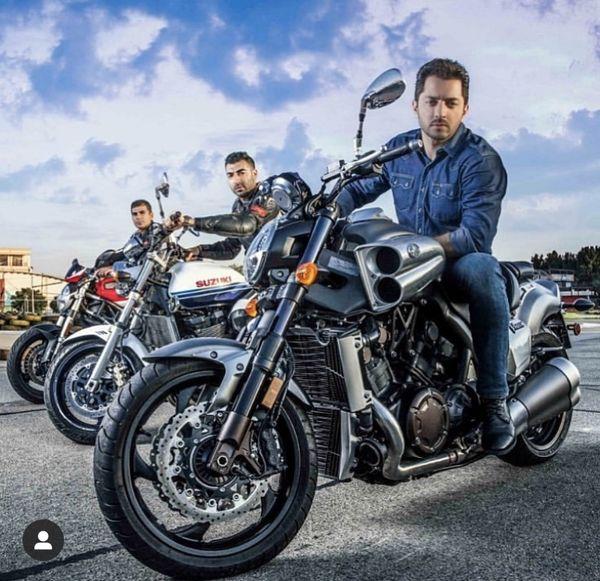 موتور حرفه ای بهرام رادان + عکس