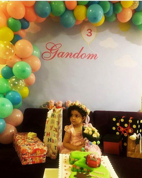 تولد سه سالگی دختر آزاده نامداری+عکس