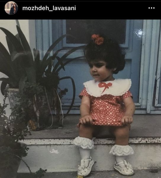 کودکی بامزه مژده لواسانی + عکس