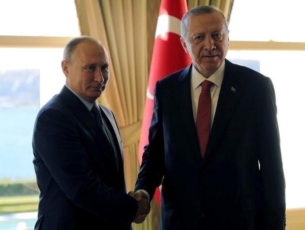 دیدار جداگانه اردوغان با ماکرون و پوتین
