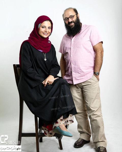 بازیگر ملکه گدایان در کنار همسرش + عکس