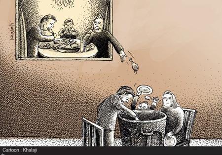 کاریکاتور استاندار تهران در پایتخت گرسنه نداریم