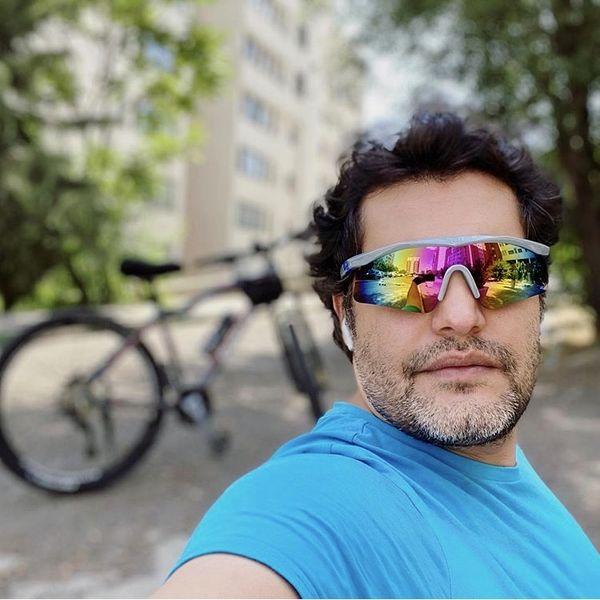 عینک دوچرخهسواری امیرمحمد زند + عکس