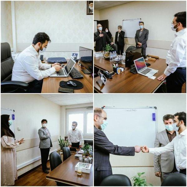 محل کار جدید وزیر سابق + عکس