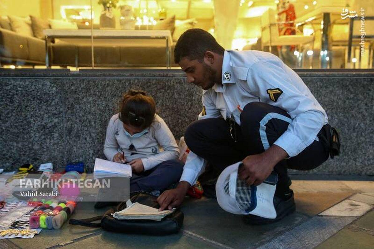 اقدام زیبای سرباز راهور در میدان ونک + تصویر