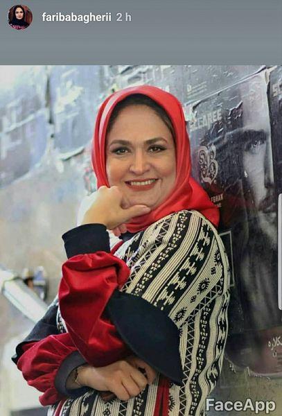 خانم مجری آی فیلم هم به چالش پیری پیوست+عکس