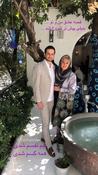 قصه عشق پویا امینی و همسرش + عکس