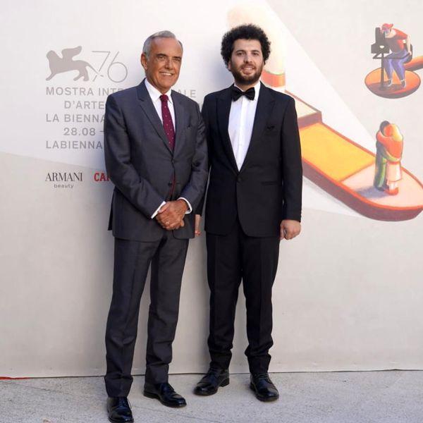 کارگردان ایرانی در کنار مدیر جشنواره ونیز+عکس