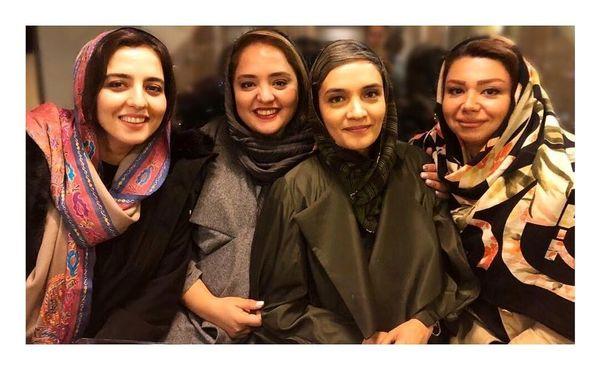 عکس نرگس محمدی و خواهرش در کنار میترا حجار در یک مراسم + عکس