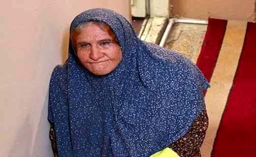محسن تنابنده در نقش یک پیرزن + عکس