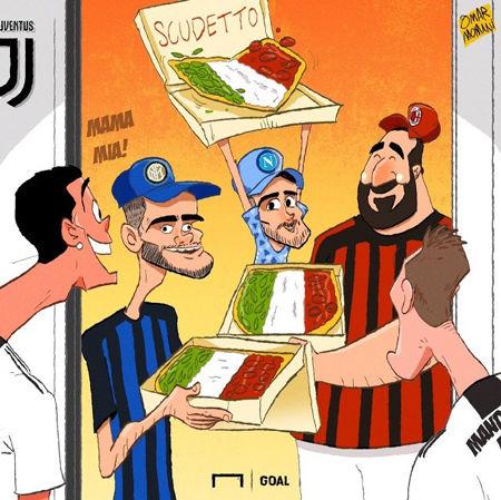کاریکاتور پیتزای ویژه برای رونالدو!