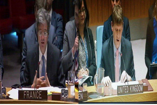 موضعگیری نمایندگان پاریس و لندن در نشست شورایامنیت درباره یمن