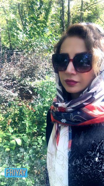 شبنم قلی خانی در جنگل + عکس