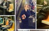 سلبریتیها در مترو!/عکس