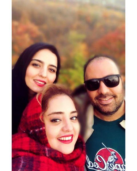 گردش پاییزی خانوادگی نرگس محمدی