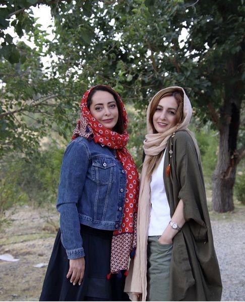 شقایق دهقان و خواهرش + عکس