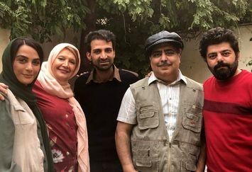 رضا شفیع جم در پشت صحنه فیلم جدیدش+عکس